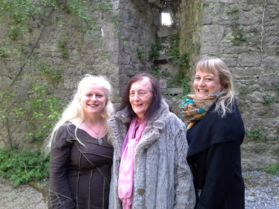 Eimear Burke with Olivia Robertson and Cressida Pryor at 3 Castles