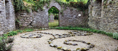 The triskele at 3 Castles, home of Eimear Burke and site used by the Kilkenny OBOD grove.