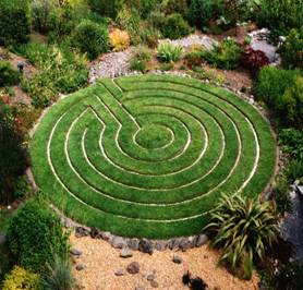 The labyrinth at 3 Castles, home of Eimear Burke and site used by the Kilkenny OBOD Grove.